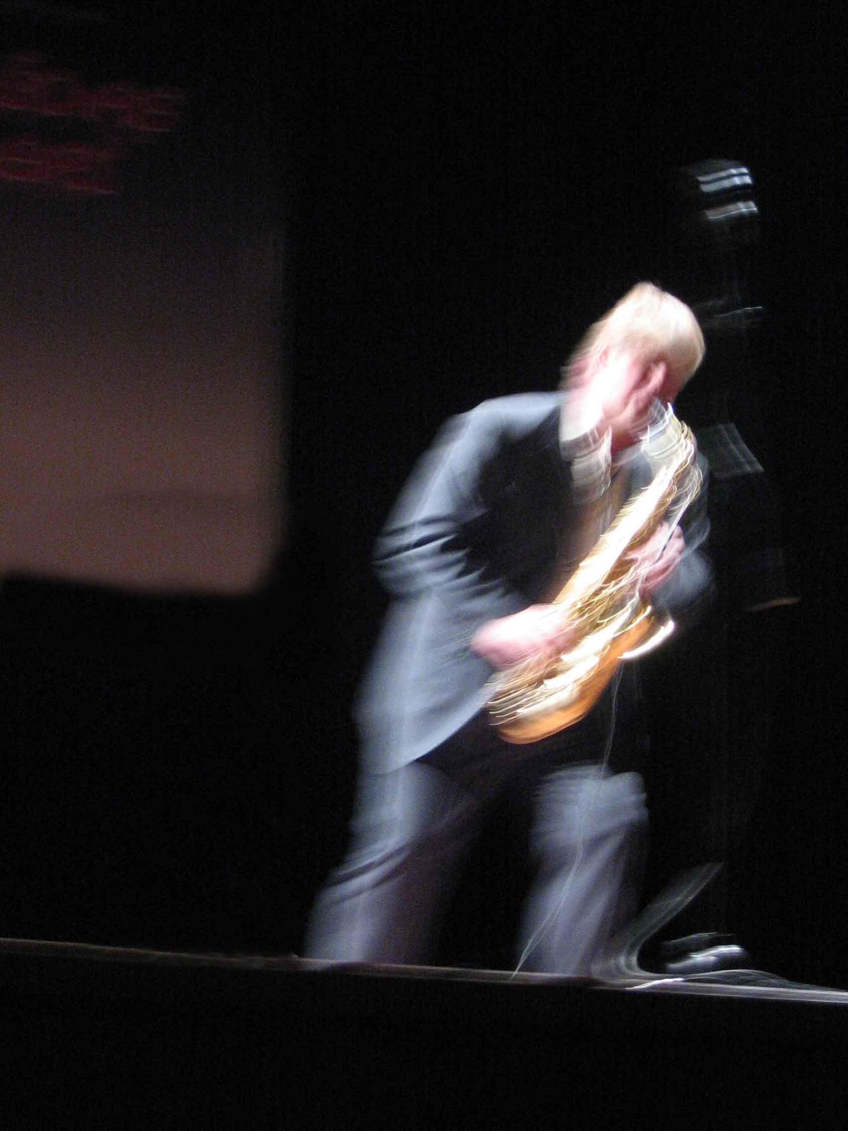 Jörgen Pettersson at the 3rd Mediterranean Contemporary Music Days in Istanbul, Turkey.  Photo: Ulrika Ljungberg